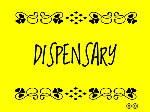 Dispensary = Place where medicines are prepared and provided.