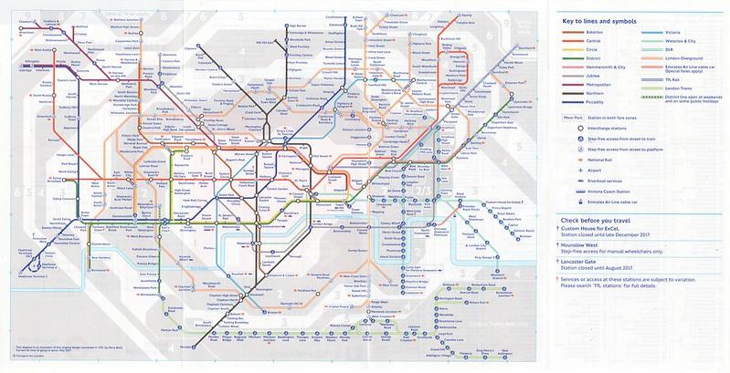 May 2017 Tube map.