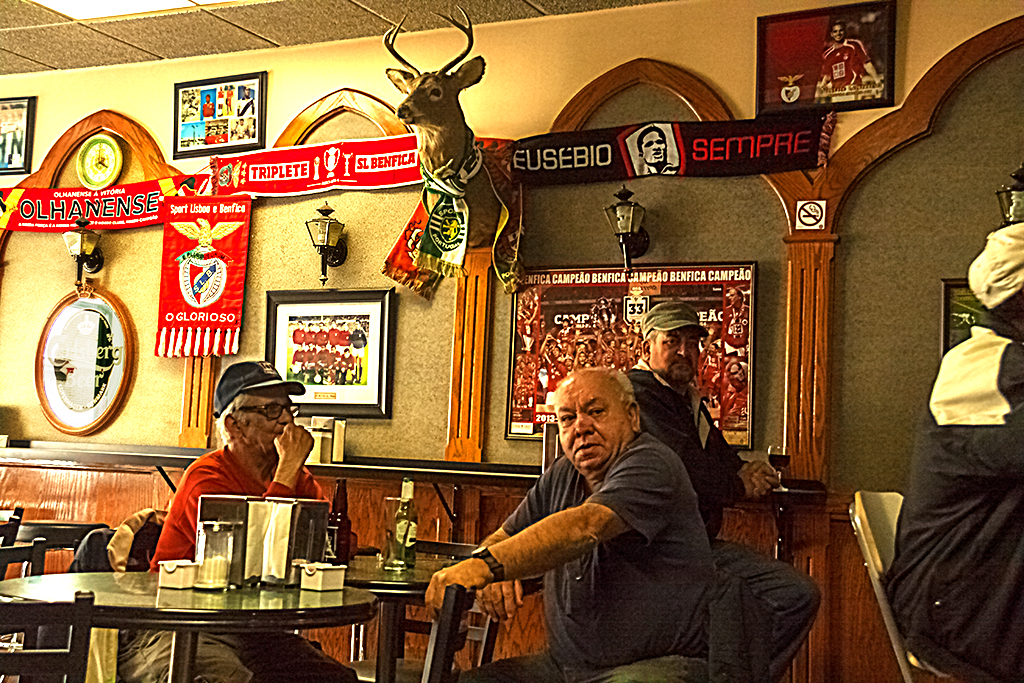 Soccer mad bar in Little Portugal--Toronto