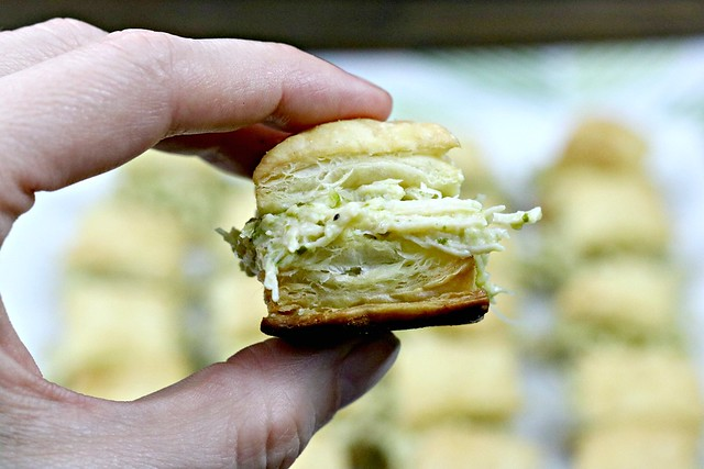 Chicken Pesto Puff Pastry Bite