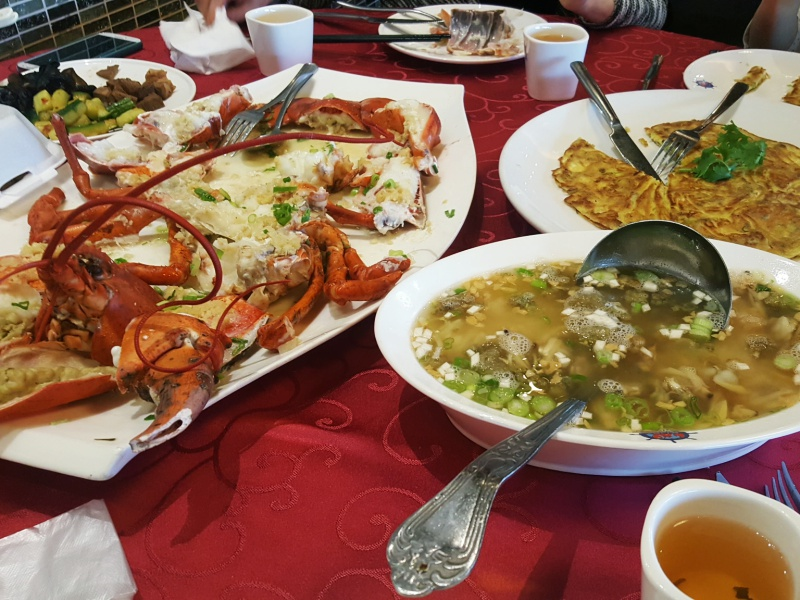 lobster seafood dinner