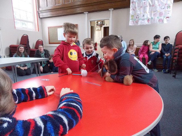 Acoustics activity from chapter 3 of Messy Church Does Science