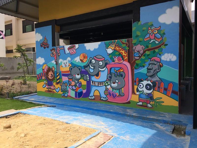 樂活襪之鄉博物館-WC外牆彩繪