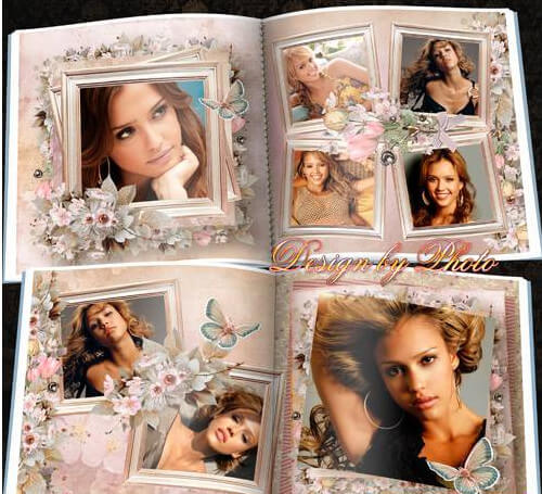 Romantic Photoshop PSD photobook – love is beautiful
