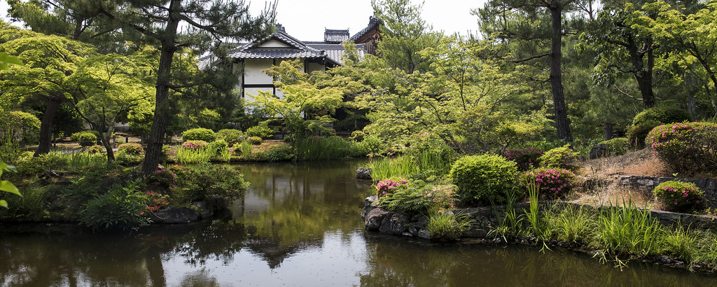 Toji-in located in Kyoto, Japan in the month of May