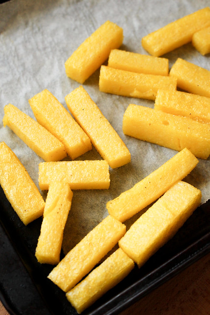 How To Make Polenta Fries - AKA What To Do With All This Leftover Polenta???