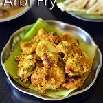 Seppankizhangu Poriyal Recipe - Arbi Fry - Colocasia Recipes