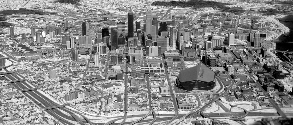 Minneapolis Skyline in Infrared
