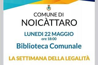 Noicattaro. Settimana della Legalità front