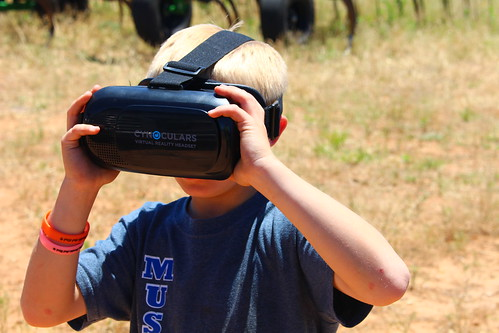 This thing was so neat -- you put your phone in it and you can virtually skydive, walk with dinosaurs or assist with the zombie appocalypse.