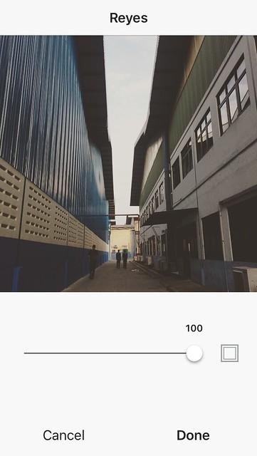 Mengedit foto dengan instagram reyes
