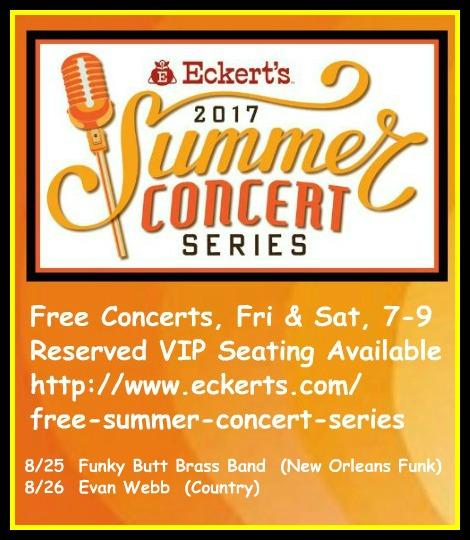 Eckert's Summer Concerts 8-25, 8-26-17
