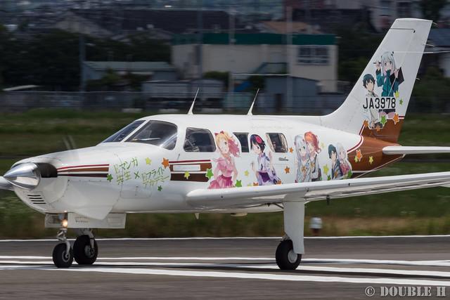痛飛行機 - Anime wrapping airplane in RJOY 2017.6.4 (3)