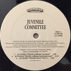 JUVENILE COMITTEE:JUVENILE THANG(LABEL SIDE-A)