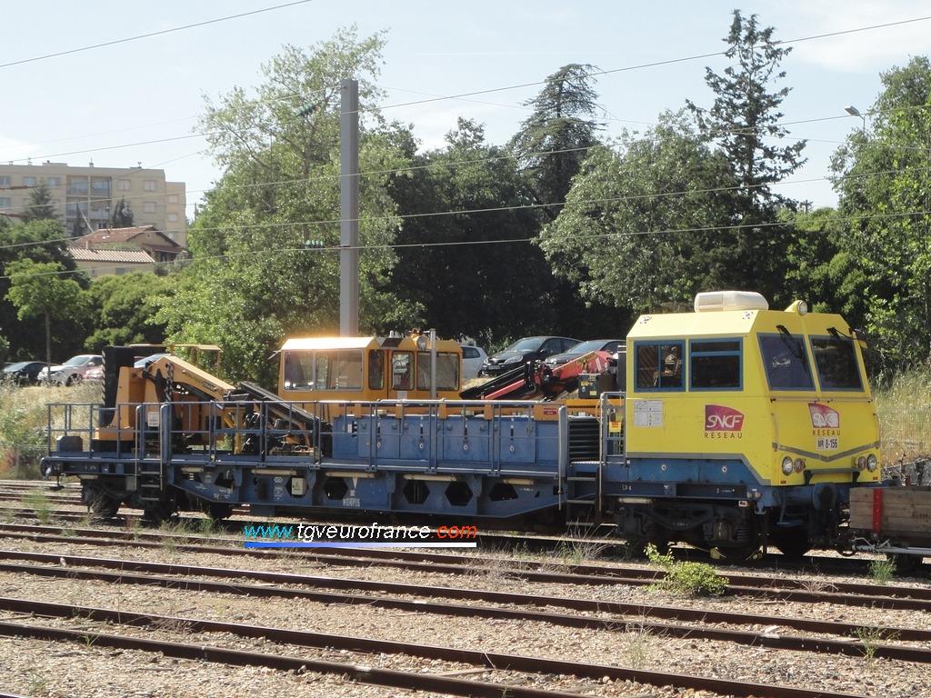 Une draisine DU 94B (la 8-156 affectée à Marseille) de SNCF Réseau