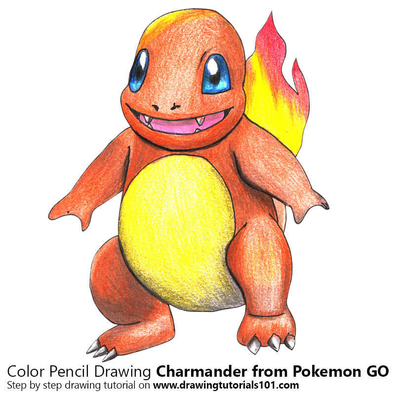 Charmander From Pokemon Go With Color Pencils Time Lapse Flickr