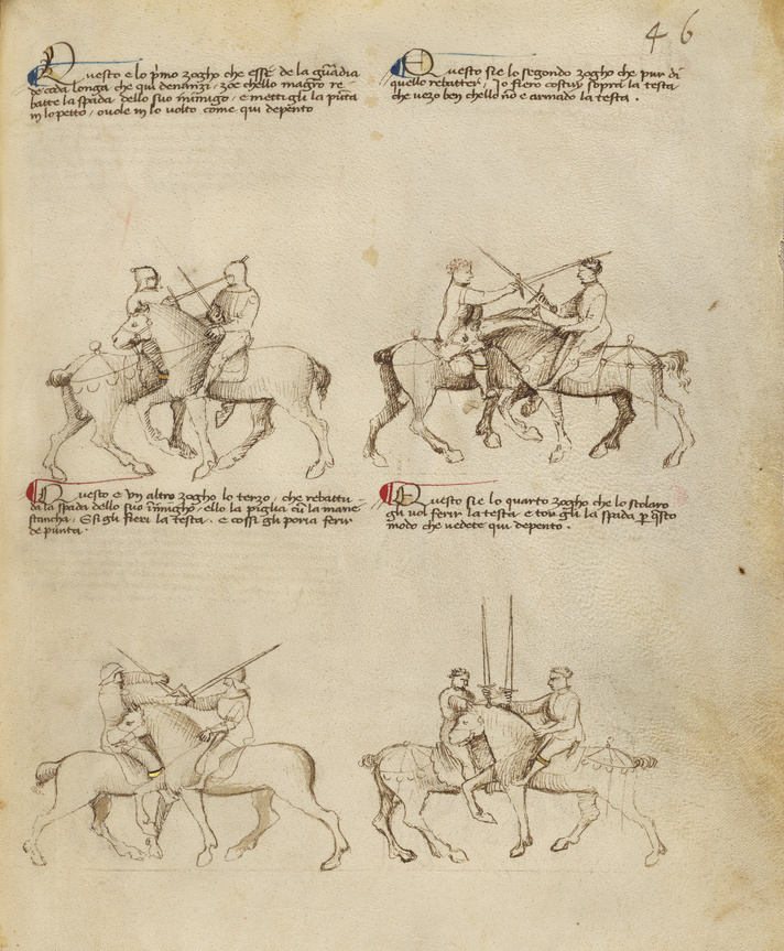 Equestrian Combat with Sword
