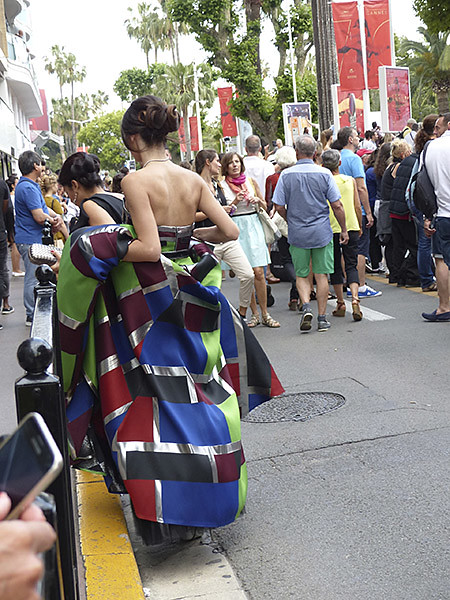 robe bariolée