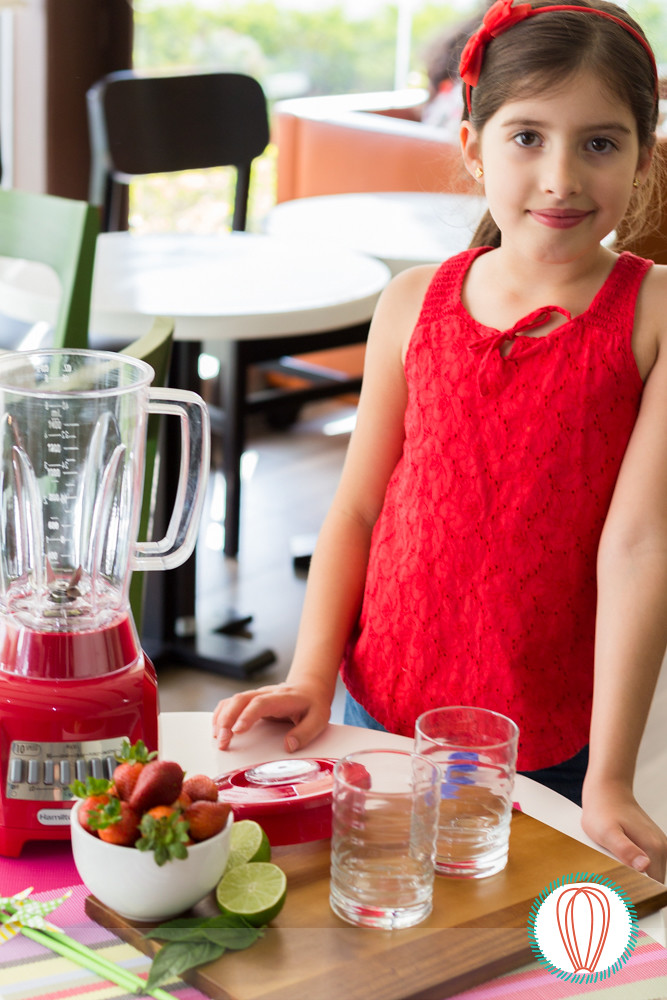 Little Foodies: Strawberry & Basil Slushy