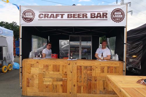 Craft Beer Bar vom Bierlager (auf dem Street Food Festival in Osnabrück)