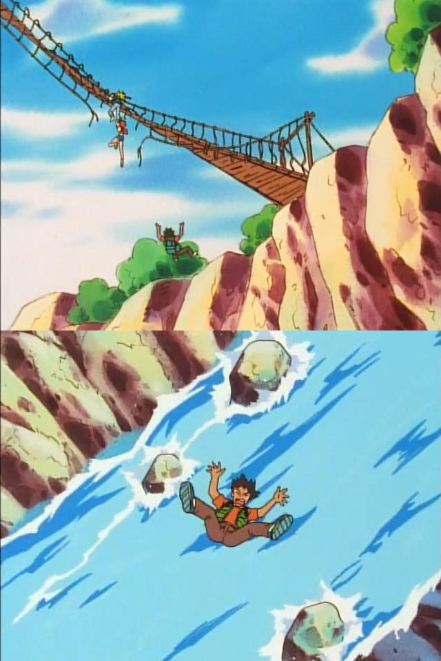 brock falls to his death