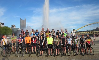 Team Decaf group ride at the Point