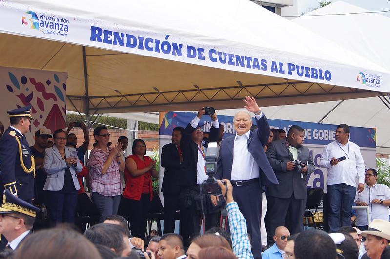 Presidente Sánchez Cerén brinda informe de tres años de gobierno