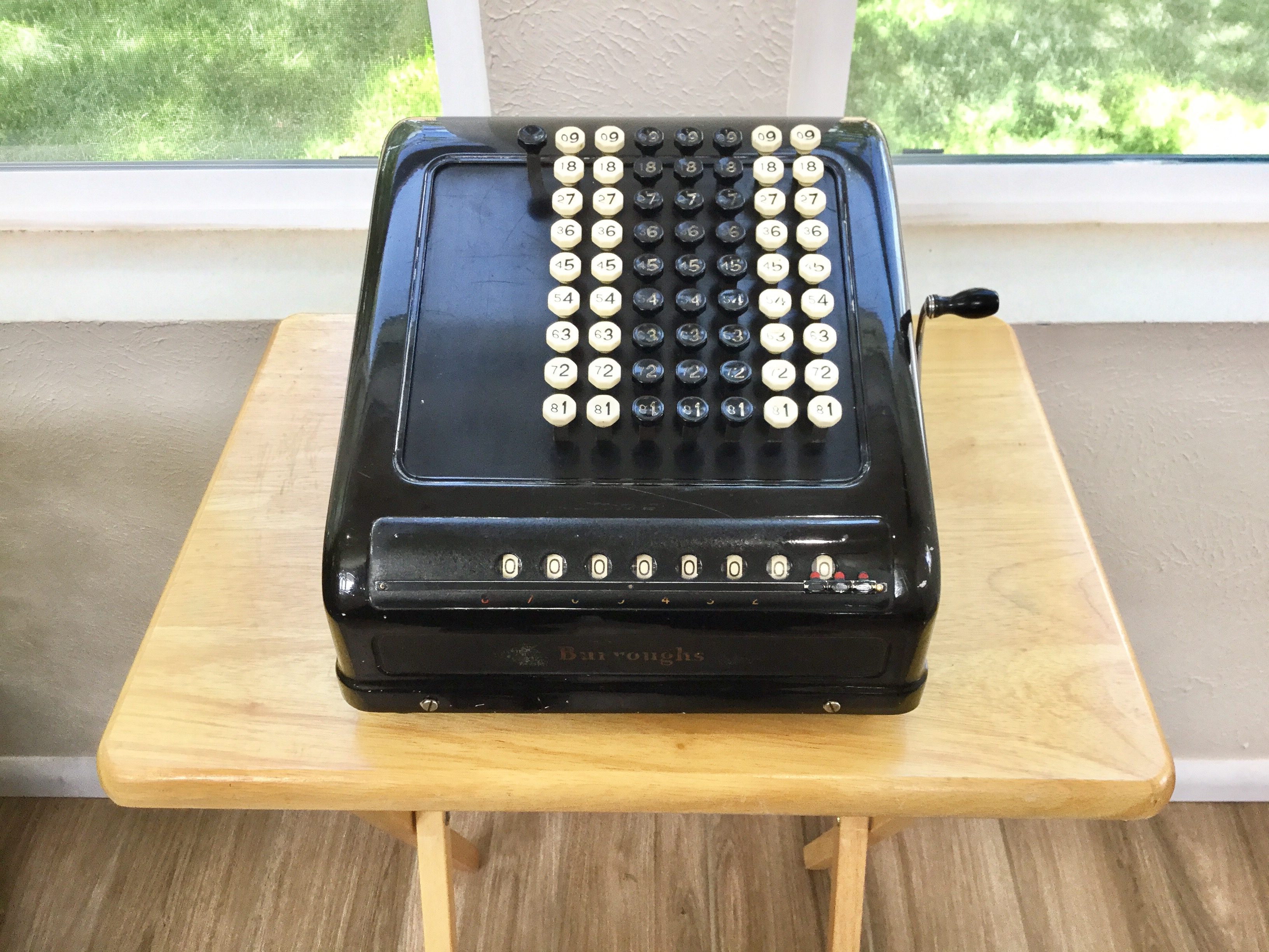 Burroughs Key-Operated Adding Machine
