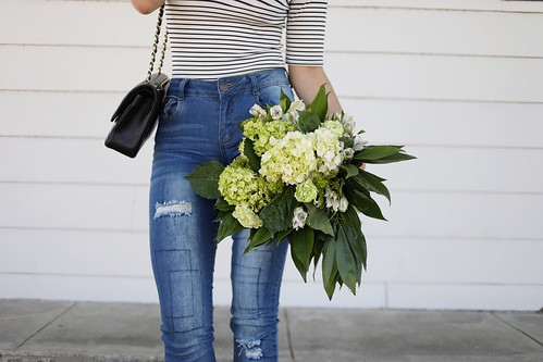 fashion blogger,lovefashionlivelife,joann doan,style blogger,stylist,what i wore,my style,fashion diaries,outfit,frayed denim,denim,jeans,blue jeans,flowers,factory fashion store,zerouv,the bouqs company,bouquet,chanel,boohoo,boohoo usa,summer style,summer,ootd