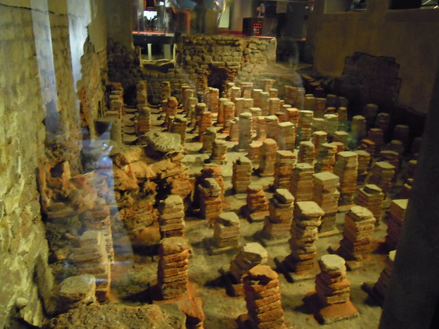 hypocaust flooring. From Studying Abroad in London: A Trip to Bath