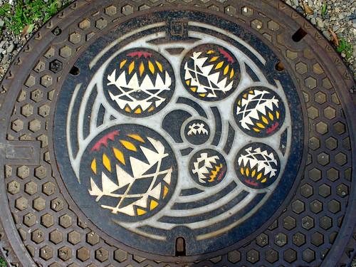 Wakayama city Wakayama pref, manhole cover 2 (和歌山県和歌山市のマンホール2)