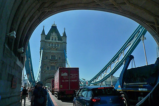 London - Tower Bridge traffic