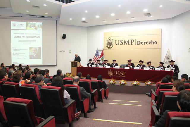 Universidad de San Martín de Porres incorporó como Doctor Honoris Causa al Dr. Louis W. Goodman, profesor y Decano emérito de la  American University's School of International Service in Washington, DC.