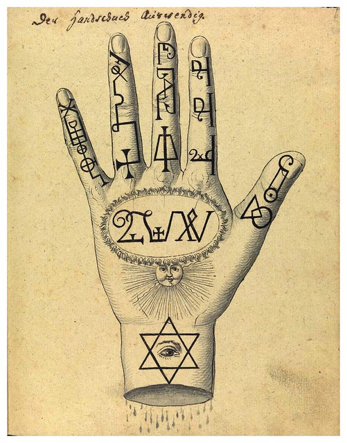 003-Signos cabalisticos en la mano-Compendium rarissimum…1775- Wellcome Library