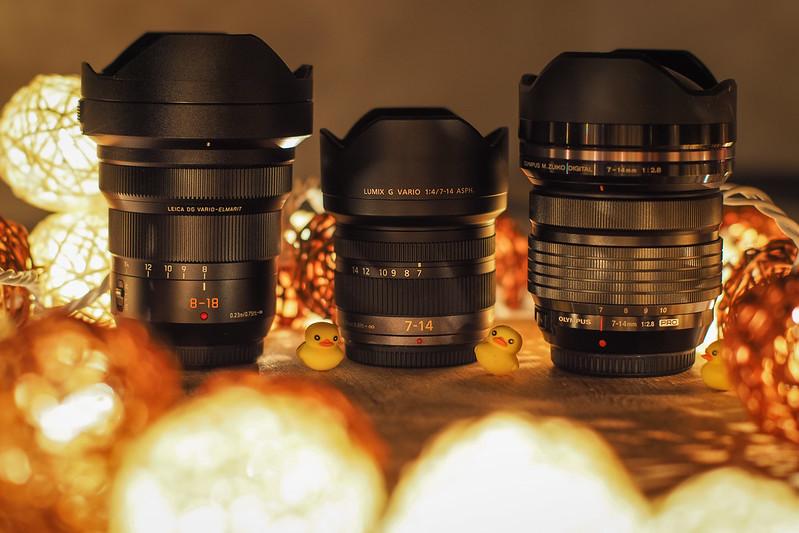 LeicaDG7-14mm/f2.8-4vsLumixG7-14mm/f4 vsM.ZD7-14mm/f2.8PRO|Wide-angle lenses
