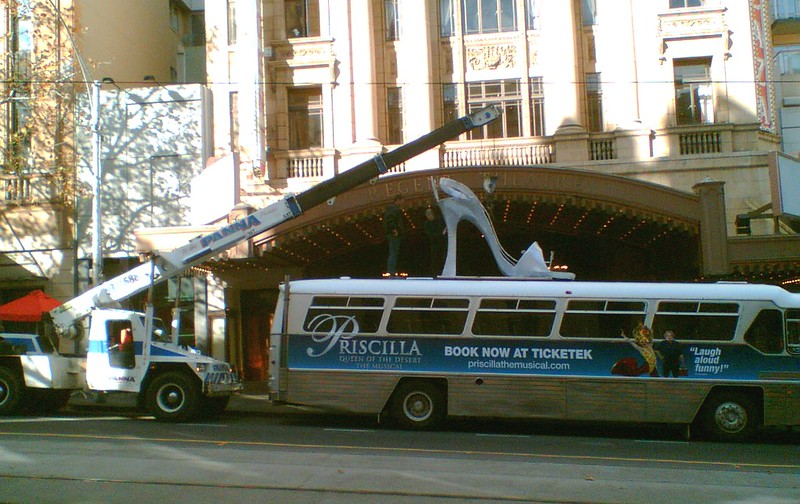 Priscilla musical promotion, Regent Theatre, June 2007