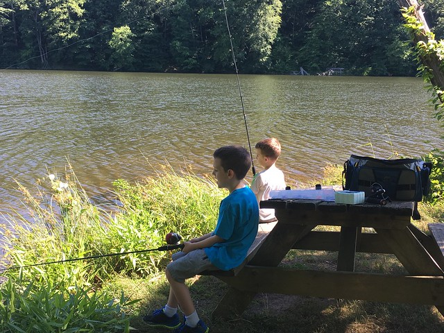 Fishing at Ogle Lake