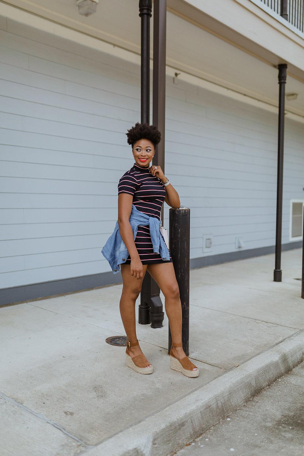 how to wear a knit bodycon dress