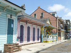 Colorful houses in French Quarter