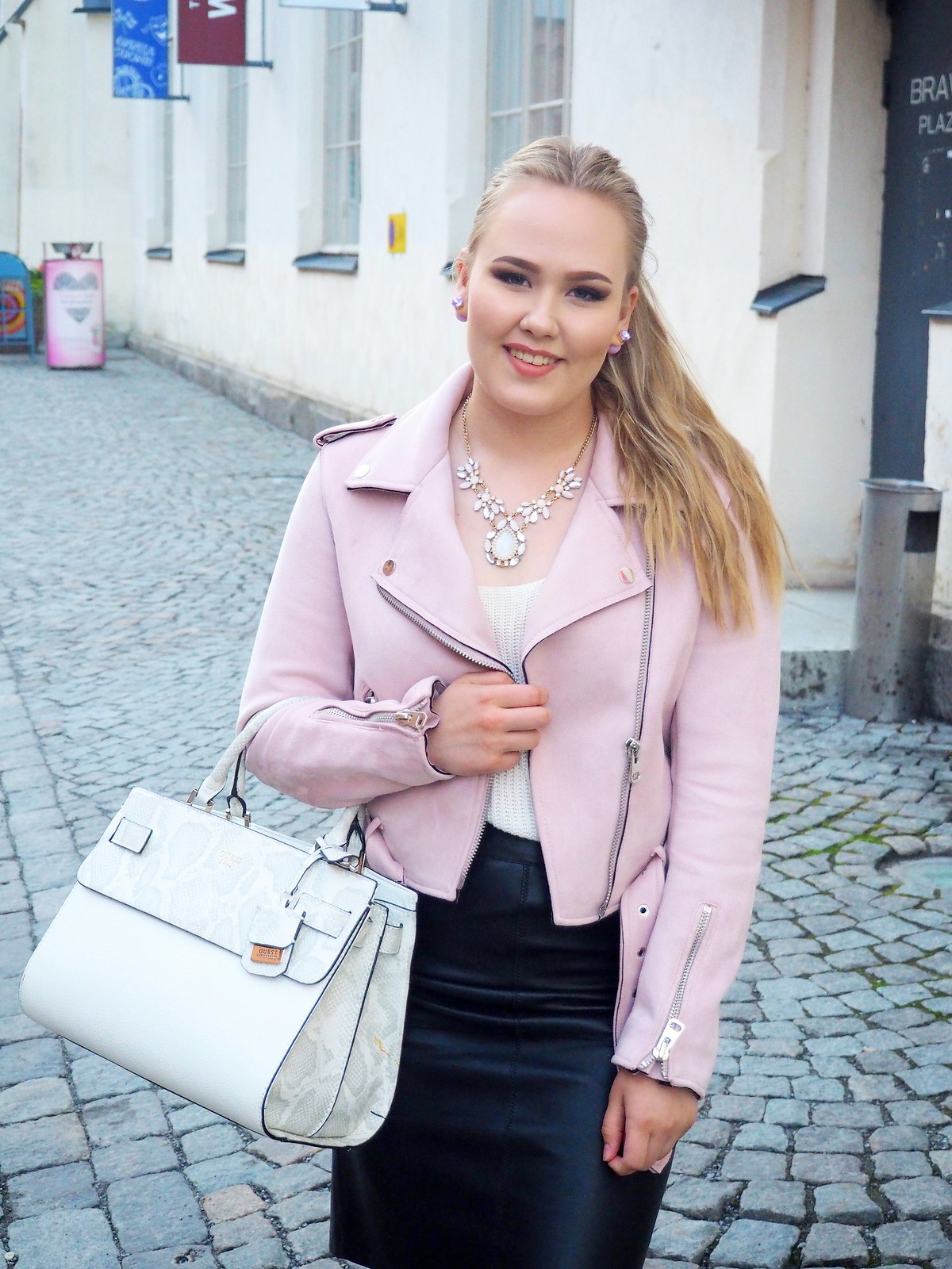 summer outfit baby pink jacket