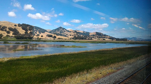 On the train from San Jose to Davis, California