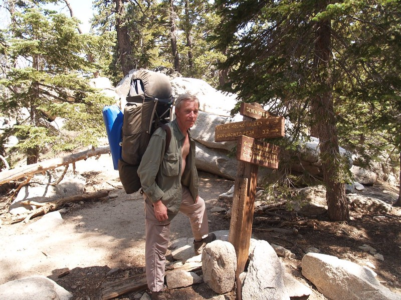 We reach the end of the Marion Mountain Trail and begin hiking on the Pacific Crest Trail