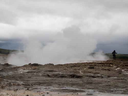 Gebiet des Großen Geysirs zur Springquelle Strokkur