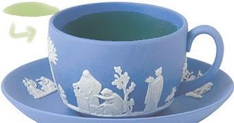 緑茶in ジャスパーペールブルー色