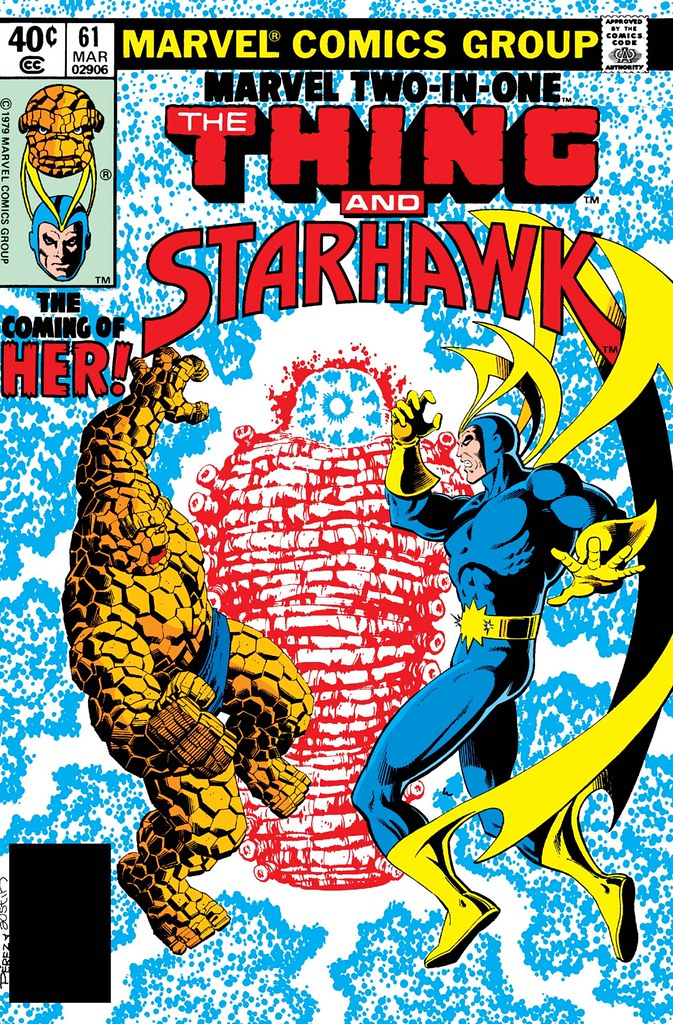 Marvel Two-In-One 61 Thing and Starhawk by Perez and Austin