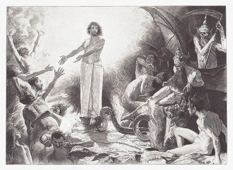 Sascha Schneider - Christ In Hell, 1900
