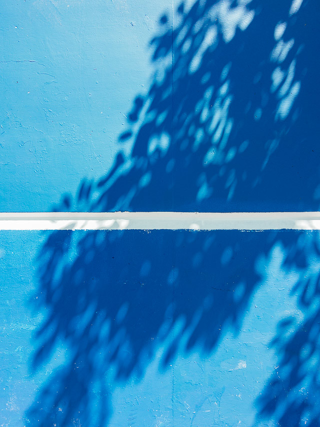 shadows on blue