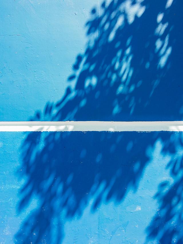 shadows on blue