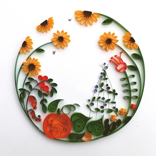 Quilled Allotment Garden - Meloney Celliers