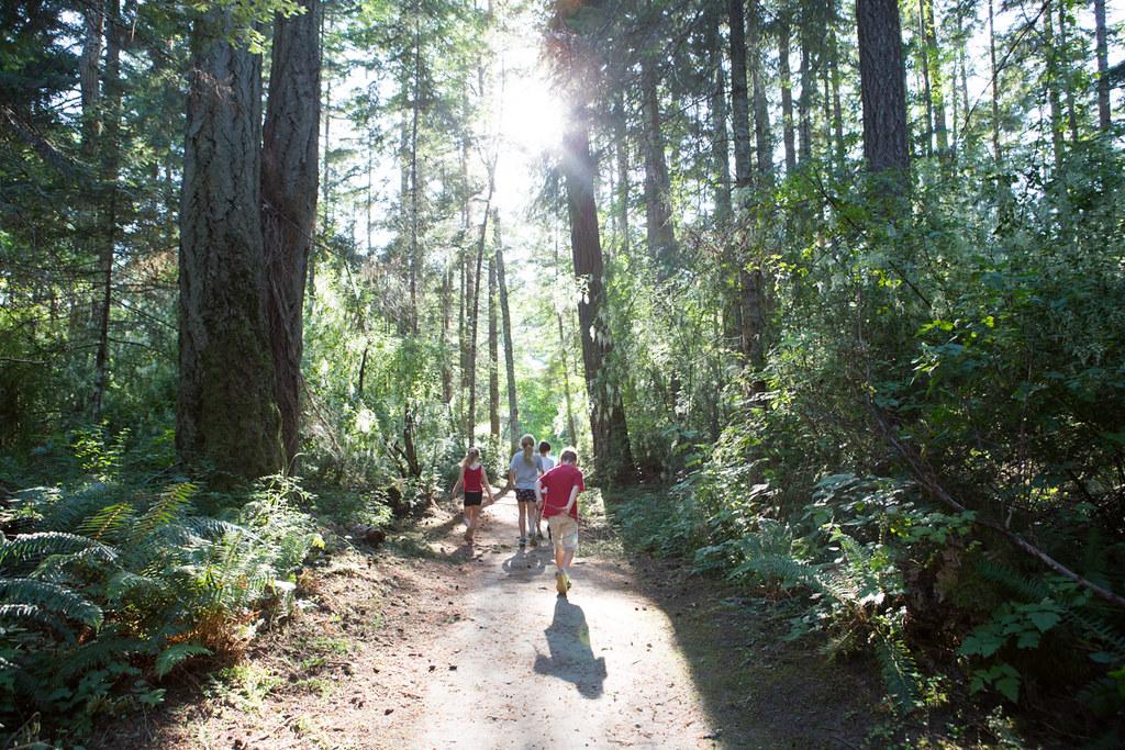 Walking at rathtrevor provincial park